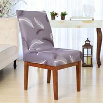 Kit Capas Cadeiras Mesa 6 Lugares Sala de Jantar Modern Leaf - Charme do Detalhe