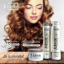 Kit Capilar Mousse de Prata 400 ml Kbello. Shampo+condicionador+mascara 300 gr - Kbello Cosmeticos