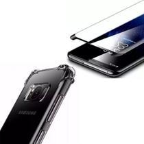 Kit Capinha Silicone Antichoque + Pelicula Vidro 5D Preta Samsung S8 - Hrebros