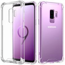 Kit Capinha Silicone Antichoque + Película Vidro 5D Preta Samsung S9 Plus - Hrebros