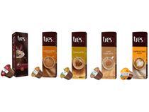 Kit Cápsula de Café com Leite Cappuccino - Chai Latte Chocolate 3 Corações 50 Unidades