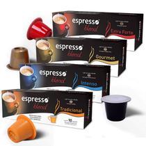 Kit Cápsulas de Café Espresso Blend - Compatíveis com Nespresso - 40 un. -