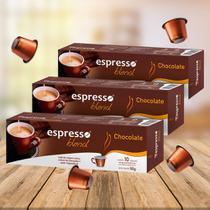 Kit Cápsulas Espresso Blend Chocolate Compatível com Nespresso - 3 Caixas -