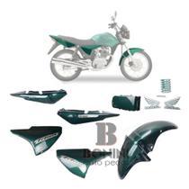 Kit Carenagem Cg 150 Es Titan 2005 Es 05 Verde Com Adesivo - Pro tork