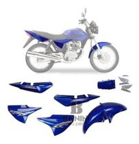 Kit Carenagem Cg 150 Es Titan 2007 Es 07 Azul Com Adesivo - Pro tork