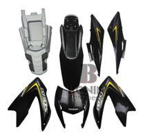 Kit Carenagem Nxr 150 Es Bros 2012 Es Preta Adesivos - Pro Tork