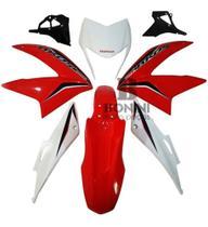 Kit Carenagem + Sub Tampa Nxr 150 Bros 2014 Vermelho - Pro Tork
