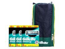 Kit Carga Gillette Mach3 com 24 unidades + Porta Chuteira -