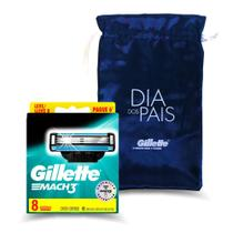 Kit Carga Gillette Mach3 Leve 8 Pague 6 + sacola Gillette -