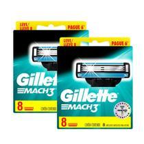 Kit Carga Gillette Mach3 Regular com 16 unidades -