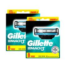Kit Carga Gillette Mach3 Regular com 16 unidades -