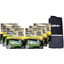 Kit Carga Gillette Mach3 Sensitive 24 unidades + Porta Chuteira