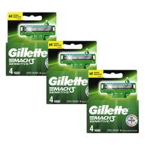 Kit Carga Gillette Mach3 Sensitive com 12 un -
