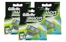 Kit Carga Gillette Mach3 Sensitive com 12 un