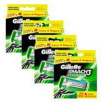 Kit Carga Gillette Mach3 Sensitive com 32 unidades -