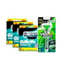 Kit Carga Mach3 Regular com 24 + Aparelho Sensitive Grátis - Gillette