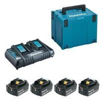 Kit Carregador DC18RD 127v + 4 baterias BL1850B Makita -
