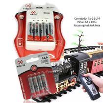 Kit Carregador De Pilhas Recarregavel Cp-51 4 Pilhas AA  4 Pilhas AAA - Concise Fashion Style
