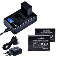 kit Carregador Duplo Antorium +2x baterias LP-E17 Canon T7i T6i SL2 -
