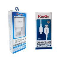 Kit Carregador Lightning Kingo + Cabo USB 2m para iPhone 6s -