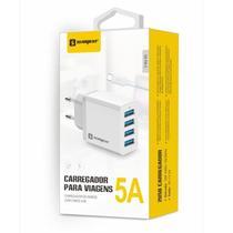 Kit carregador turbo 4 entradas usb cabo de dados tipo c 1 metro sumexr resistente original - Sumerx