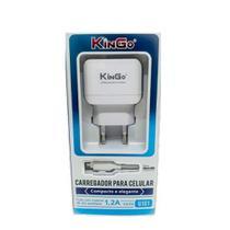 Kit Carregador USB V8 Kingo 1.2A 5V para Moto G8 Power Lite -