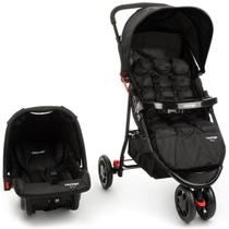 Kit Carrinho de Bebê Delta + Bebê Conforto Gama Preto Travel System - Voyage - Safety 1St