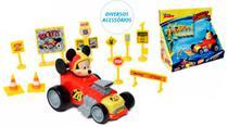 Kit carro roda livre com acessorios mickey - Toyng