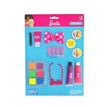 Kit Cartela de Maquiagem Para Boneca +3 Anos Com Colar Gel Batom Presilhas - Pupee -