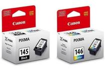 Kit Cartucho Canon Pg-145 Preto + Cl-146 Color Original CANON PIXMA IP2810/ MG2410/ MG2510/ MG2910 -