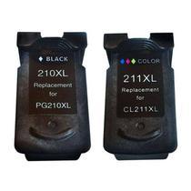 Kit Cartucho Compatível Canon PG-210 CL-211 MP240 MP250 MP260 MP270 MP280 MP480 MP490 - Chinamate
