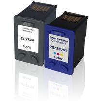 Kit Cartucho Compatível para HP 21 27 56 e 22 28 57 - Compatível para HP F4180 2510 1315 J3680 3845 - Toner Vale