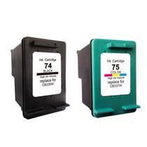 Kit Cartucho Compatível para HP 74 Black 75 Color - Compatível para HP C4480 C4280 C5580 C5280 J5780 - Toner Vale