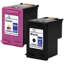 Kit Cartucho Compatível para HP 901 901XL Color + Black - Impressoras Compatível para HP J4660 J4580 - Toner Vale