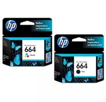 Kit Cartucho Hp 664 Preto E Color Impressora Deskjet 2676 2675 2136 3636 3836 4536 4676 - H p