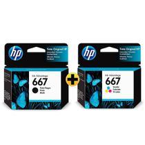 Kit Cartucho HP 667 Original, Para HP Deskjet 2376, 2774, 2776, 6476 - (3YM79AB/3YM78AL) -