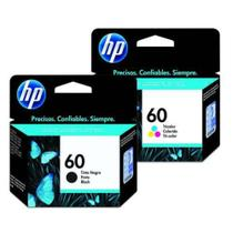 Kit Cartucho Hp Original 60 Preto 4,5ml + 60 Color 6,5ml