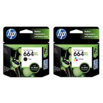 Kit Cartuchos de Tinta HP 664XL  2136  4536  Black + Color Original -