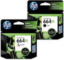 Kit Cartuchos Originais HP 664xl Preto + Colorido HP 664 XL -