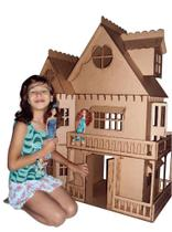 Kit Casa Boneca Móveis Barbie Emily MDF Cru C+C - Darama -