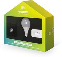 Kit Casa Conectada Positivo com Smart Controle Universal + Smart Lâmpada Wi-Fi + Smart Plug Wi-Fi -