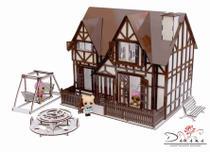 Kit casa de bonecas com 29 moveis para mini bonecas compatível com lol e polly bia essence - darama -