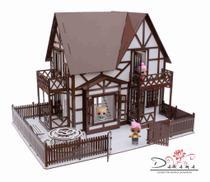 Kit casa de bonecas com 29 moveis para mini bonecas compatível com lol e polly clayre essence - darama -