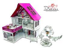 Kit casa de bonecas com 29 moveis para mini bonecas mod.  cindy sonhos - darama -