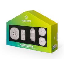 Kit Casa Segura Positivo Casa Inteligente (1 Smart Central + 2 sensores de abertura + 1 sensor de movimento + 1 controle remoto) Compativel com Alexa -