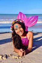 Kit cauda de sereia tam 06 - cor rosa - Viamar Brasil