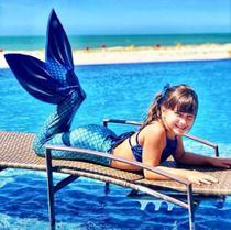 Kit cauda de sereia tam 10 - cor azul - Viamar Brasil