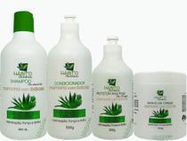 Kit Cauterização Capilar Mamona e Babosa Hidratação Profissional - Hábito Cosméticos