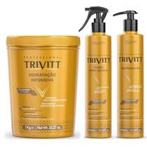 Kit Cauterização Trivitt Máscara De Hidratação Fluido De Escova -
