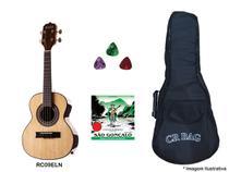 Kit cavaco rozini est el. rc09elni + capa + palhetas + corda -